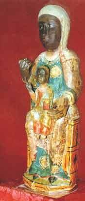 natural Virgen sentado en la cara