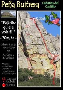 Ruta de Escalada en la Peña Buitrera de Cabañas del Castillo. Villuercas Ibores Jara. Extremadura