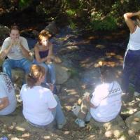 20040709 Ruta a las Pinturas Rupestres de la Cueva de la Madrastra. Cañamero Villuercas Ibores Jara. Extremadura
