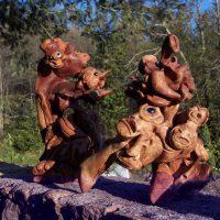 20010413 Esculturas en Raiz de Brezo. Maestro Artesano José María Retortillo en Berzocana. Geoparque Villuercas Ibores Jara. Extremadura