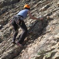 """20150413 Escalando """"de primera"""" el Cancho de la Sábana en Berzocana. Geoparque Villuercas Ibores Jara. Extremadura"""